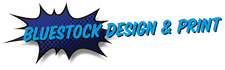 Bluestock design and print logo
