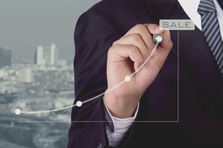 Sales chart increasing